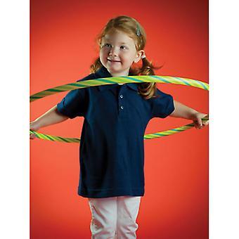 Larkwood Unisex Baby toddler Colours Short Sleeve Button Cotton polo shirt