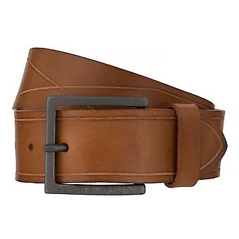 BALDESSARINI belt leather belts men's belts leather beige/Brown 6507