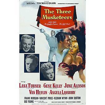 De tre musketörerna filmaffischen (11 x 17)