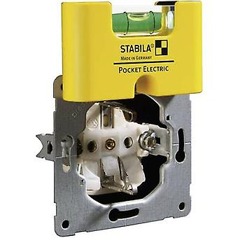 Stabila POCKET ELECTRIC 17775 Mini spirit level 70 mm 1 mm/m Calibrated to: Manufacturer's standards (no certificate)