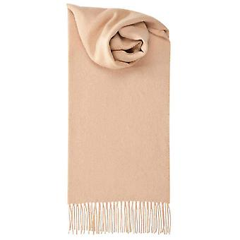 Johnstons of Elgin Lambswool Plain Scarf - Camel