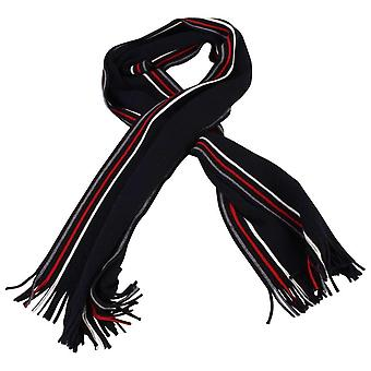 Bassin and Brown Thomas Striped Wool Scarf - Black/Red/Grey