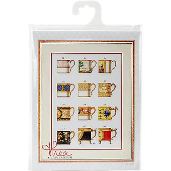 Cups On Aida Counted Cross Stitch Kit-19.5