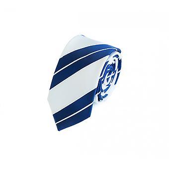 Tie cravate cravate cravate 6cm blanc bleu rayé Fabio Farini