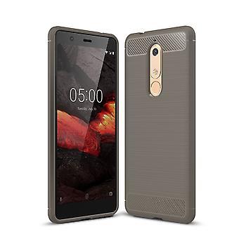 Nokia 5.1 cover silicone grey carbon look case TPU phone case bumper
