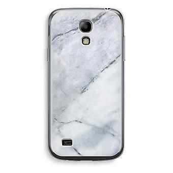 Samsung Galaxy S4 Mini Transparent Case (Soft) - Marble white