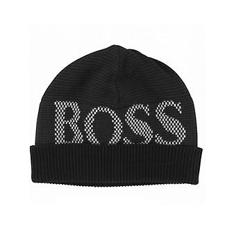 Boss Hugo Boss Boys Black Logo Beanie