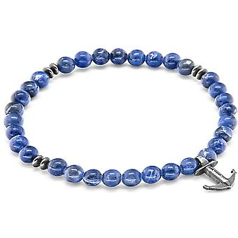 Anchor and Crew Starboard Silver and Sodalite Stone Bracelet - Blue/Silver