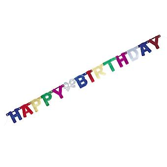 6ft Happy Birthday Foil Card Party Banner | Summer Fete Festival Wedding Events
