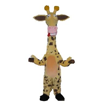 SPOTSOUND of Brown, yellow and pink, very funny giraffe mascot