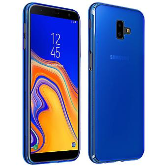 Silicone case, Glossy & matte back cover for Samsung Galaxy J6 Plus - Blue