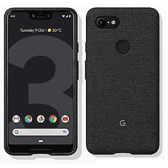 New Genuine Official Google Pixel 3 XL Fabric Case Cover GA00494 - Carbon Black