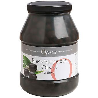 Opies Pitted Black Olives in Brine