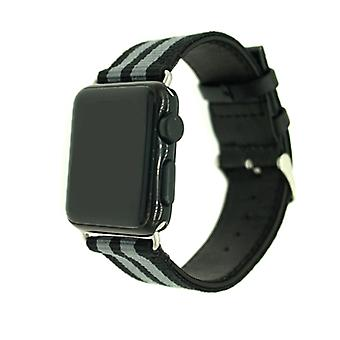 Nylon Strap voor Apple Watch 3/2/1-38 mm-Army Green