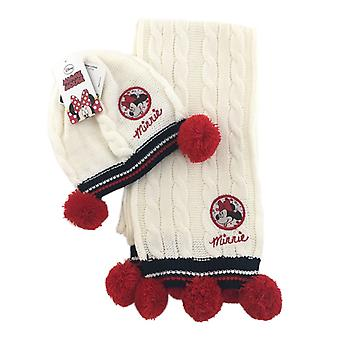 Minnie Hat Scarf-White