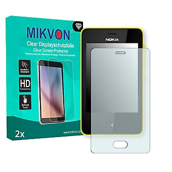 Nokia Asha 501 Screen Protector - Mikvon Clear (Retail Package with accessories)