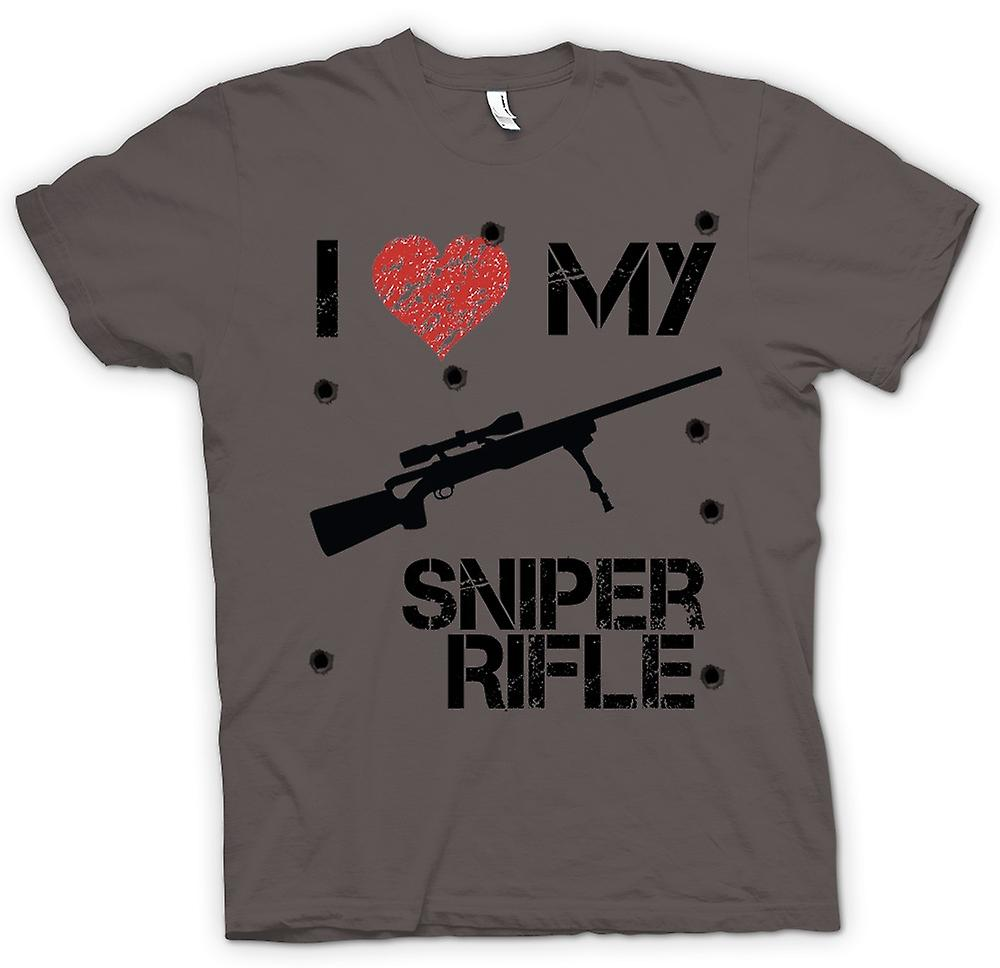 Womens T-shirt - I Love My Sniper Rifle