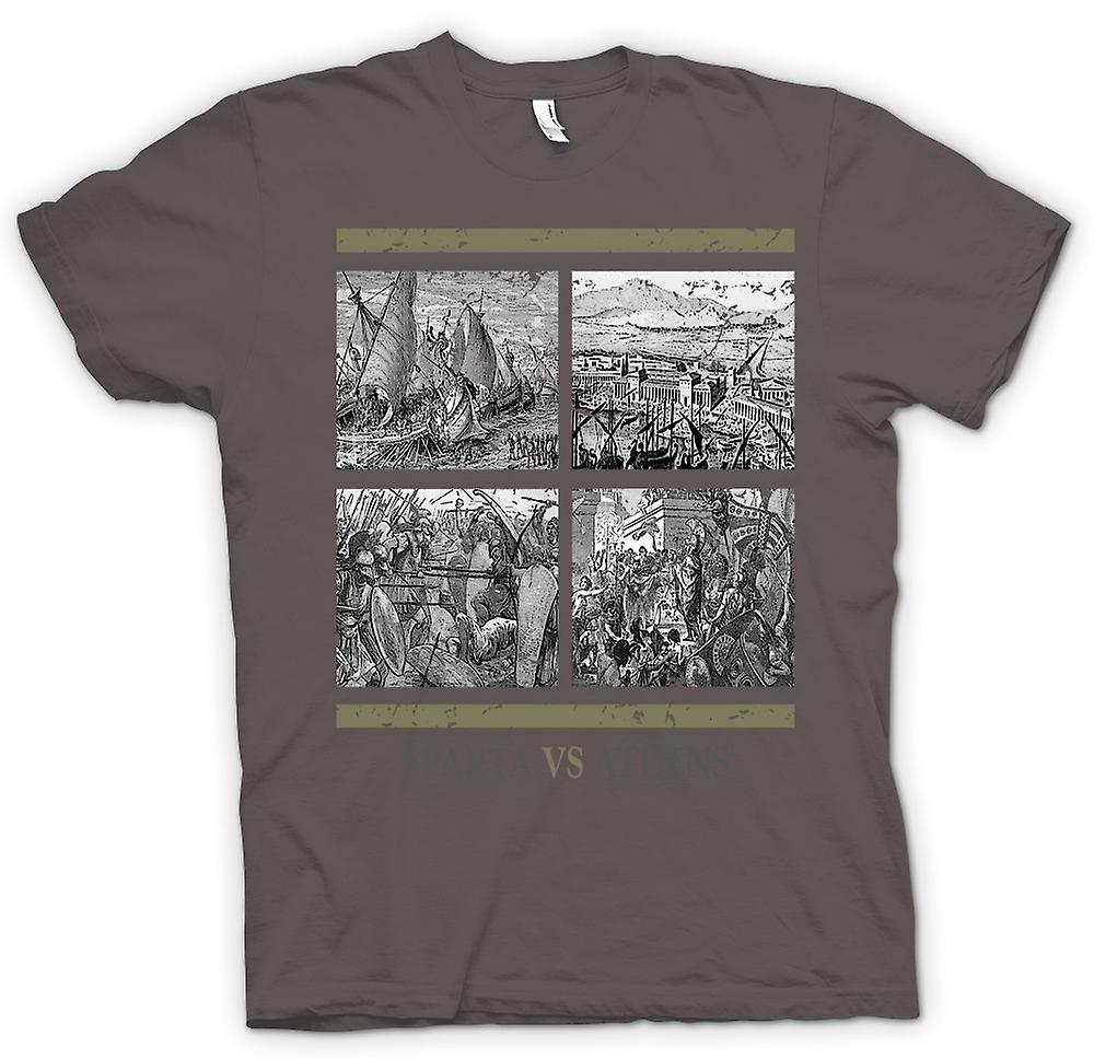 Mens T-shirt - Sparta Vs Athens - Ancient History