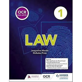 OCR AS/A poziom prawo - książki 1 przez Jacqueline Martin - 9781510401761 książki