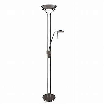 4329BC Black Chrome Mother & Child Floor Lamp