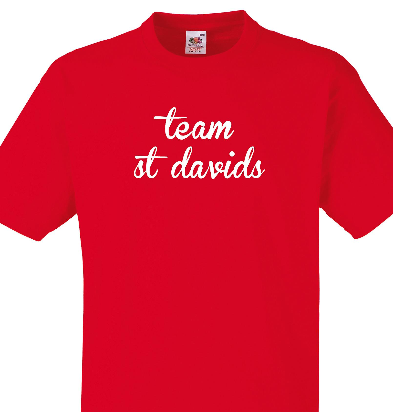 Team St davids Red T shirt