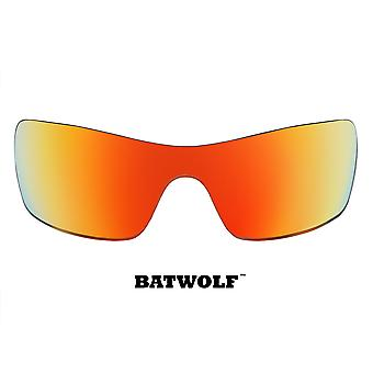 Batwolf Replacement Lenses Polarized Red Mirror by SEEK fits OAKLEY Sunglasses