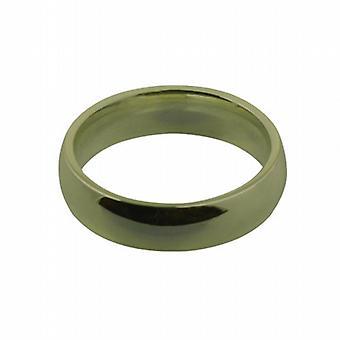 9ct Gold 5mm plain Court shaped Wedding Ring Size I