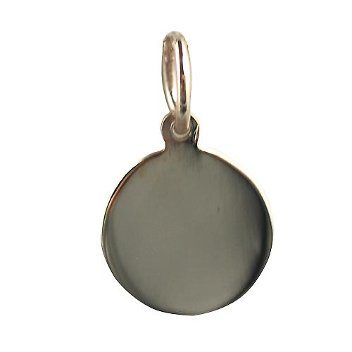 9ct Gold 10mm plain round Disc