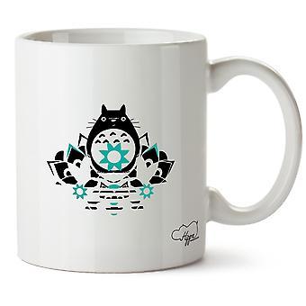 Hippowarehouse Japanese Anime Fat Cat Printed Mug Cup Ceramic 10oz
