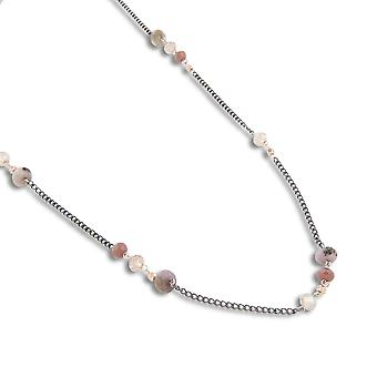 PEARLS FOR GIRLS jewelry noble ladies necklace with purple Rhodoniten