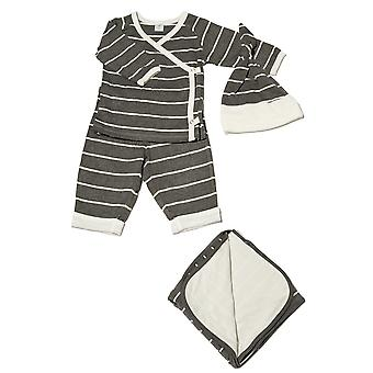 Baby Grey 4-pc. Gift Set (Kimono Top, Cuffed Pant, Cap, & Blanket)
