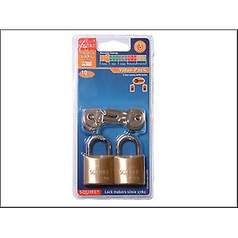 LP8T LEOPARD BRASS PADLOCK 30MM (CARD OF 2)