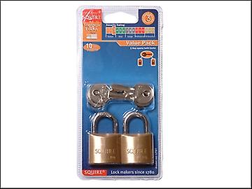 Henry Squire LP8T Leopard Brass Padlock 30mm (Card of 2)
