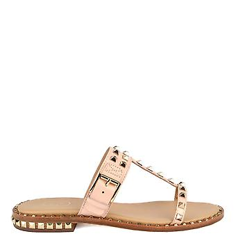 Ash PRINCE Sandals Pink Leather & Gold Studs
