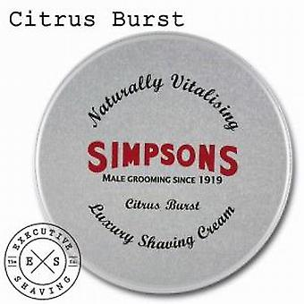 Simpsons lusso crema da barba Citrus Burst (125ml)