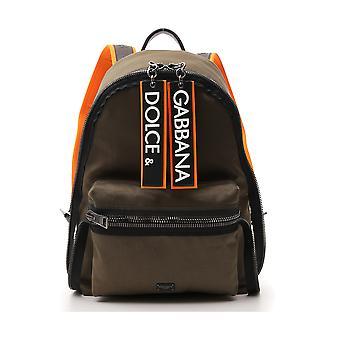 Dolce E Gabbana Green Nylon Backpack