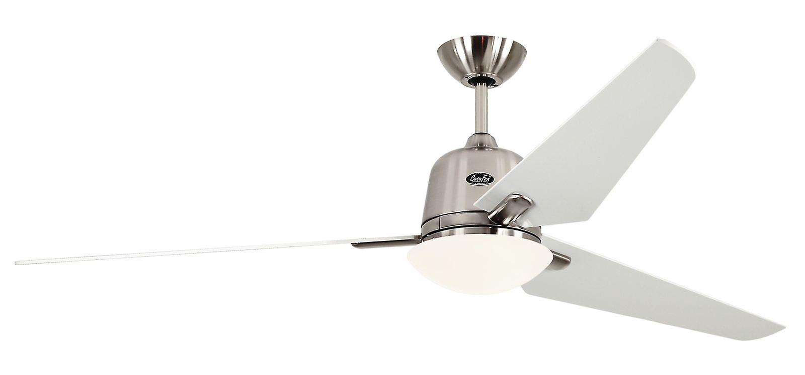 Plafonnier ventilateur Eco Aviatos 162cm 64 & 034;BN lames blanc