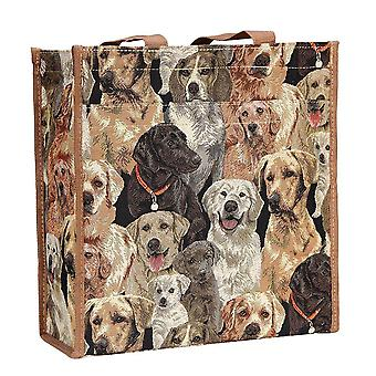 Labrador reusable shopper bag by signare tapestry / shop-lab