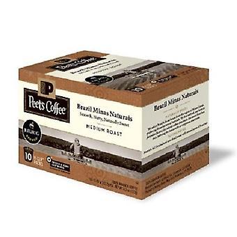 Peet's Coffee Brazil Minas Naturais Medium Roast Keurig K-Cups 2 Box Pack