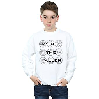 Marvel Boys Avengers Endgame Avenge The Fallen Icons Sweatshirt