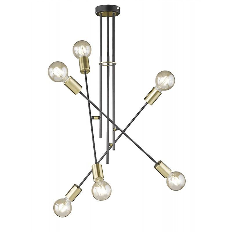 6 Light Flush plafonnier E27