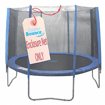 13' Trampoline Enclosure Safety Net Fits for 13 FT. Round Frames using 8 Straight Poles, Installs Outside of Frame (poles not included)