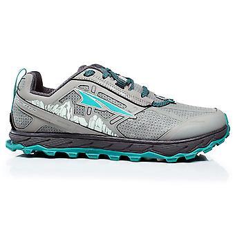 Altra Lone Peak 4 Low Rsm (waterproof) Womens Zero Drop Trail Running Shoes Grey/green
