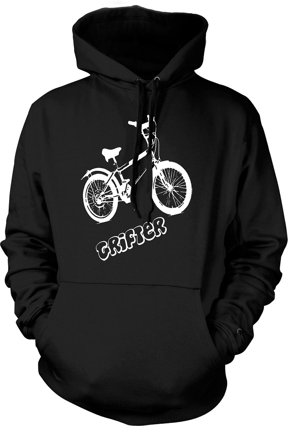 Mens Hoodie - Grifter - Old Skool Retro Bike