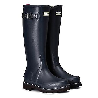 Hunter Lady Balmoral Ii Poly Lining Wellington Boot - Navy/peppercorn