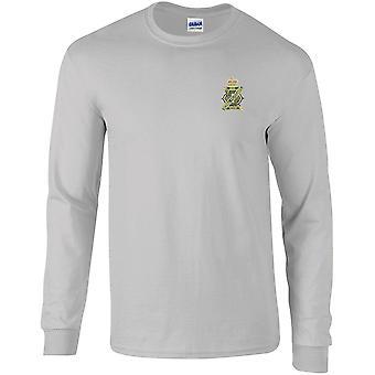 13.18th Royal Hussars farve-licenseret British Army broderet langærmet T-shirt