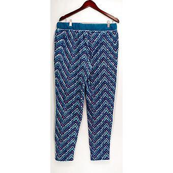 Cuddl Duds Sleep Pantalones, Petite Fleecewear Stretch Novelty Azul A297370