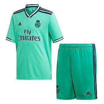 Adidas Real Madrid 2019/20 Kids La Liga Football Soccer derde kit set groen