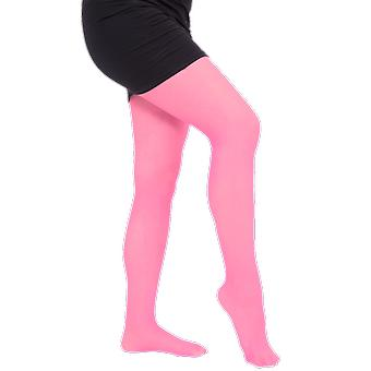 Womens Thick Pink Tights Fancy Dress Costume Accessory Stockings