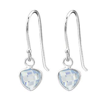 Triangle - 925 Sterling Silver Opal and Semi Precious Earrings - W27978X